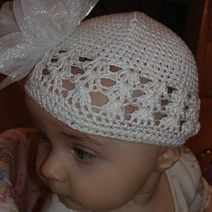 Other - 2/$12 mix colors. Baby/toddler white knit hat